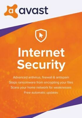 Avast Internet Security 2019 - For 1 Pc - 1 Year - Download