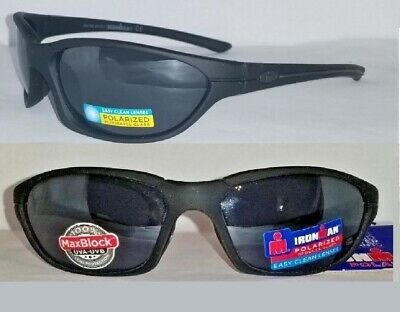 9e960acefa29 2 Pairs Foster Grant Ironman Courage Black Polarized Sport Sunglasses MSRP:  $50