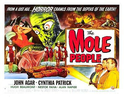 mole people vintage horror sci-fi movie poster living room wall decor