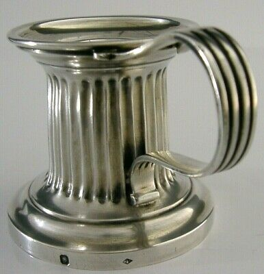 BEAUTIFUL FRENCH STERLING SILVER CHAMBER STICK CANDLESTICK c1900 ANTIQUE