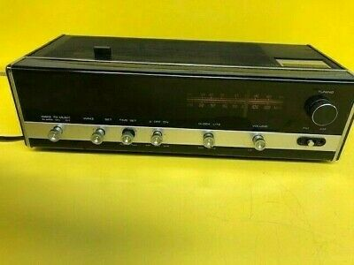 Vintage Sears Solid State AM/FM sears transistor radio 80820210400 Clock Wood