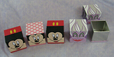 Cubeez DISNEY Mickey & Minnie Mouse Ursula You Pick Small Storage Containers Tin