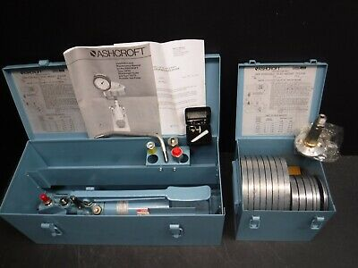 New Ashcroft 1305-D Portable Dead Weight Tester With Weights U1