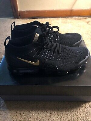 Nike Vapormax Flyknit Black and Gold
