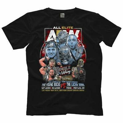 9638 T-Shirt AEW Double or Nothing Matchup: Bucks Vs. Lucha Offiziell Bis 5XL !