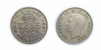 1951 BRITISH 2 SHILLING/FLORIN COIN - Crowned Rose / King George VI 👑  RARE
