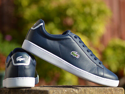 Lacoste Carnaby EVO BL 1 SPM Navy Leather Trainers **RRP:£75.00**