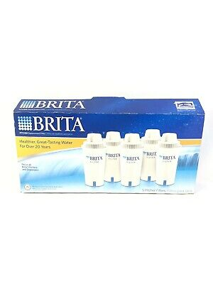 NEW Brita 5-Pack Advanced Water Pitcher Replacement Filters Open Box