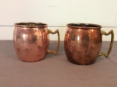2 Vintage Twine Copper Moscow Mule Mugs FREE SHIP