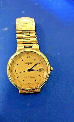 LONGINES CONQUEST MEN'S Watch Quartz Stainless Steel/Gold 1 11/32in
