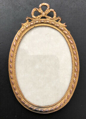 Vintage Late 19th Century Gilt Oval Brass Frame