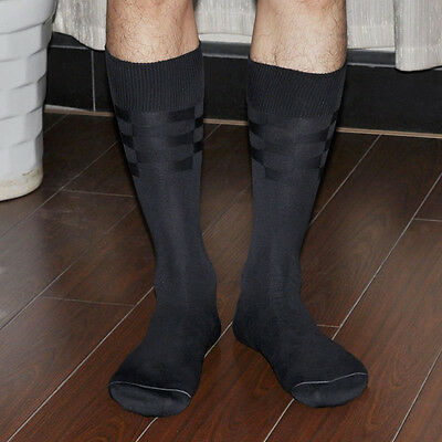 2 Pairs Men's Dress Socks -- Colour: Black