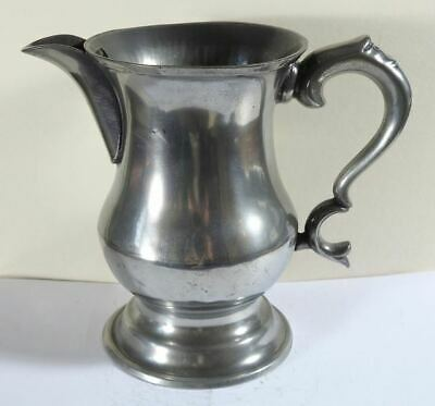 Antique Scottish Pewter Pre 1826 Chopin Capacity Tulip Shaped Spouted Measure