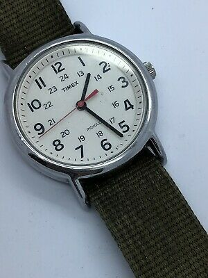 79d3e14ab TIMEX MEN'S WEEKENDER Analog Canvas Strap Watch Olive Free Shipping ...