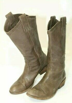 c1744704c3d FRYE WOMENS CARSON Pull On Leather Western Boots Smoke Brown 77686 ...