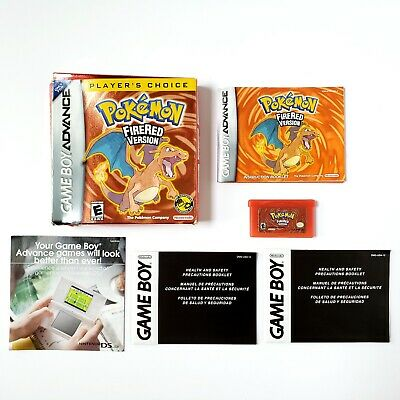 Pokemon FireRed Version (Nintendo Game Boy Advance 2006) Authentic 90% Complete