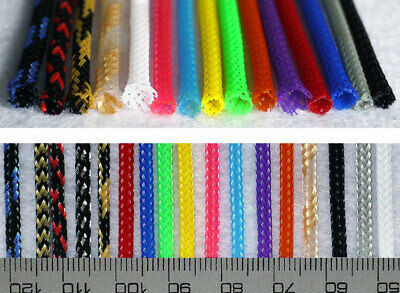 3mm Braided Cable Sleeving/Sheathing - Auto Wire Harnessing Sleeve PET Colourful