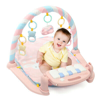 3 In 1 Baby Musical Gym Play Mat Kick Floor Activity Piano Fitness +