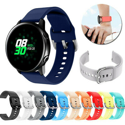 20mm Soft Silicone Strap Band For Samsung Galaxy Watch Active 42mm Gear Sport-