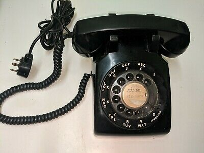 Vintage 1950's Western Electric Bell System Black Rotary Dial Desk PhoneL/M 500