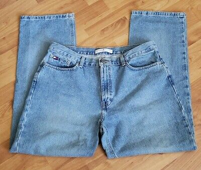 eaa736993 Tommy Hilfiger Ladies Blue Jeans High Waisted Pants Vintage Mom Jean Style  Sz 14