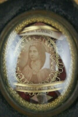 † John Vianney & Therese Lisieux 1 Reliquary The Cure Of Ars 2 Relics France †