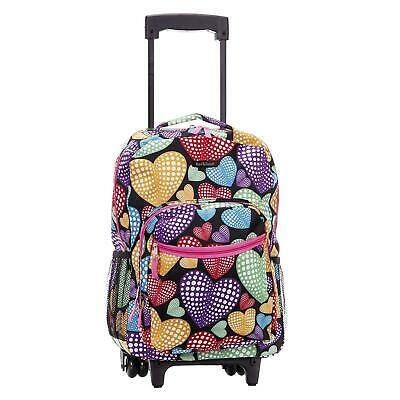 Backpack With Wheels For Girls Rolling School Travel Bag Kid Newheart Luggage 17