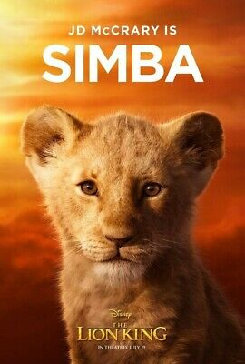 THE LION KING (2019) SIMBA film poster - glossy A4 print