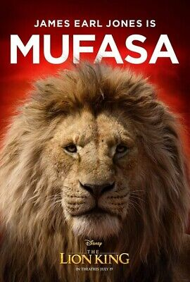 THE LION KING (2019) MUFASA film poster - glossy A4 print