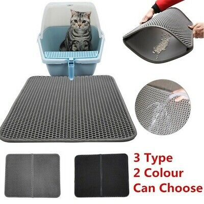 Waterproof Double-Layer Cat Litter Mat Pad Cats Litter Trapper Pad Rug 4 Size
