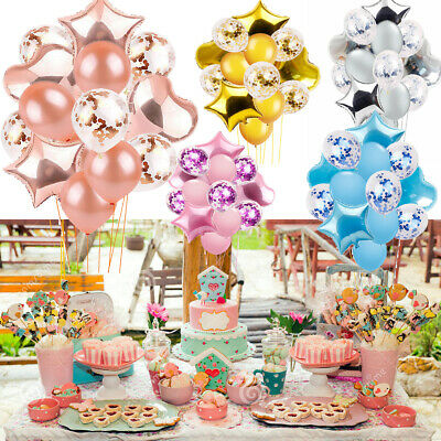 "12"" 18"" Confetti Inflatable Helium Foil Balloons Ballons Wedding Birthday Party"