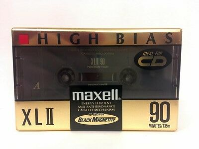 Maxell Xl Ii 90 Blank Audio Cassette Tape New Rare 1993 Year Japan Made
