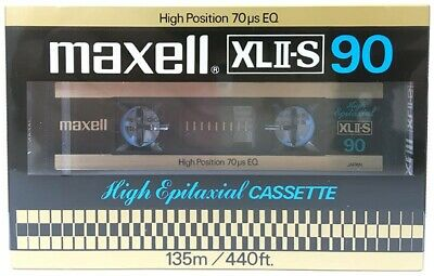 Maxell Xl Ii-S 90 Blank Audio Cassette Tape New Rare 1980 Year Japan Made