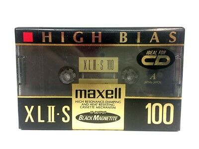 Maxell Xl Ii-S 100 Blank Audio Cassette Tape New Rare 1992 Year Japan Made