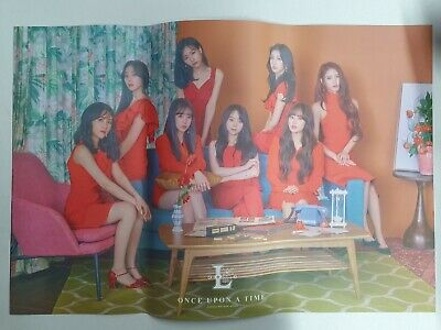 Lovelyz - Once Upon A Time (6th Mini) Unfolded Official Poster Hard Tube Case