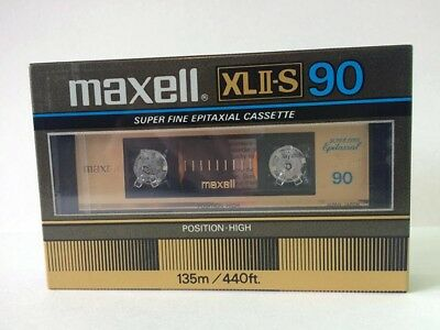 Maxell Xl Ii-S 90 Blank Audio Cassette Tape New Rare 1982 Year Japan Made (Usa)