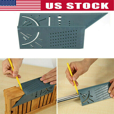 3D Mitre 90 Degree Square Angle Measuring Woodworking with Gauge and Rulers Tool
