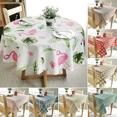 Wipe Clean Tablecloth Waterproof Table Cloth Cover Protector Dining Kitchen