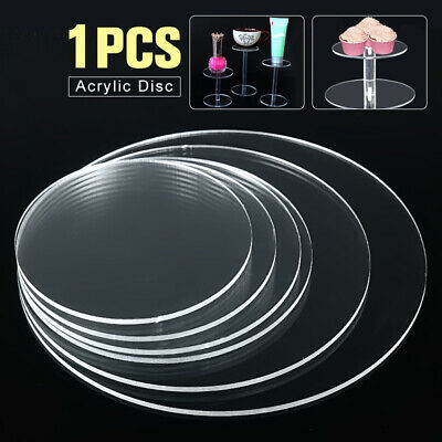 130mm Clear Extruded Acrylic Discs Circle Earring With Hole Plexiglass DIY Craft