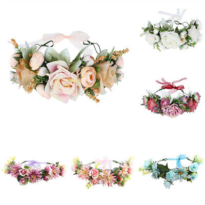 Women's Flower Wreath Crown Headbands Hairbands Wedding Garland Hair Accessories
