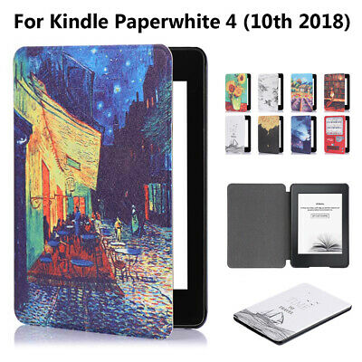 Magnetic Smart Case Leather Cover For Amazon Kindle Paperwhite 4 10th Gen 2018