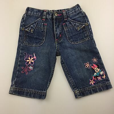 Girls size 4, Disney, Minnie Mouse denim shorts, elasticated, GUC