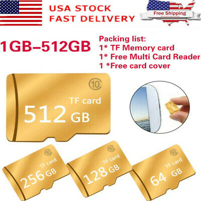 1-512GB Micro SD-card TF Speed Flash Memory Card Class10 for MP4 Phone Camera