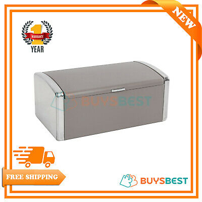 Morphy Richards Stainless Steel Roll Top Design Bread Bin Pebble - 974004