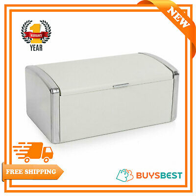 Morphy Richards Stainless Steel Roll Top Design Bread Bin In Sand - 974005