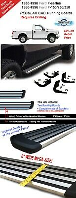 1980-1996 Ford F-series truck//F150//250//350 Extended Cab Chrome Running Boards