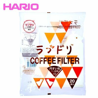 Hario V60 02 Coffee Paper Filter Love Bird 1-4 Cups 20 sheets  F/S Japan