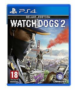 Watch Dogs 2 Deluxe Edition (PS4) New & Sealed UK PAL Free UK P&P