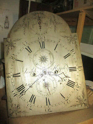 Hepple of London silvered longcase grandfather clock Movement Only