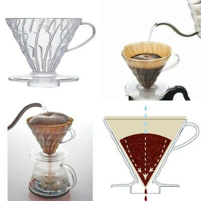 BEST VD 02T 1 Piece Plastic Coffee Dripper Clear Brew Yourself A Rich C UK STOCK